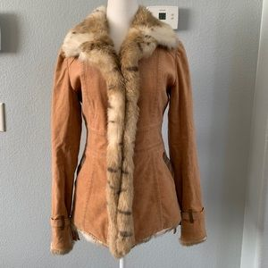 Burberry Blue label fur jacket